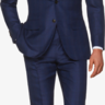 Suitsupply Hartford/La Spalla Navy Check Woo/Silk/Linen Suit: 40R *Suitbag
