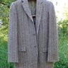 GRAIL! VINTAGE 1950s HARRIS TWEED 3/2 SACK JACKET