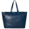 SOLD❗️PAUL SMITH Large Burnished Leather Zipper Tote Bag Carryall Blue