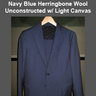 BNWOT Borrelli Suit in Navy Blue █  True Size 38S / 38R █ 3-roll-2 button, unconstructed