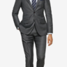 Suitsupply Sienna Grey Plain Super 130s Wool Suit: 42S