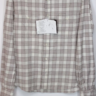 NWT Eidos by Isaia sz 15.5 Oatmeal Plaid Rich Flannel Handworked Shirt
