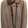 *SOLD*  NWT Brioni 40 / 50 / M Storm System Cashmere Blend Leather Horsey Coat Jacket
