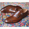 "SOLD - BNIB Crockett & Jones ""Lowndes"" Dark Brown Double Monk Strap Shoes Size UK 8.5 E"