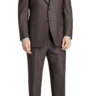 NWT Canali Suit - 38 / 48 R - RECENT Subtle Brown Houndstooth 3 season wool