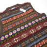BNWT Drake's London Fair Isle Jumper Sweater Vest - Size M Jamieson's