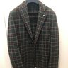 L.B.M. 1911 Green Check Wool/Cotton Sportcoat 48R/38R