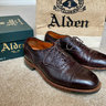 SOLD* Alden Brown Regina Grain Medallion Cap Toe Balmorals 8.5D Hampton