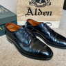 SOLD* Alden Black Shell Cordovan Atom Cap Toe Blucher 8.5D Plaza