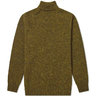 SOLD - JAMIESON'S OF SHETLAND ROLL NECK KNIT SPAGNUM SIZE L