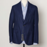 Pal Zileri Blue Hopsack Unlined Sport Coat EU50 US40