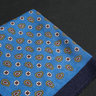 Blue Paisley Wool Pocket Square
