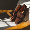 John Lobb Lopez Brown Suede Loafer