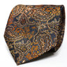 Black and Orange Paisley Neck Tie