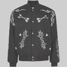 Rhude Western Embroidered Padded Wool Bomber Jacket M