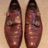 George Cleverley Burgundy Double Monk Strap (UK7.5) - $200