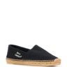 $395 Saint Laurent Embroidered Espadrilles In Canvas Black 10.5 EU44.5