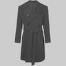 MP Massimo Piombo Belted Double-Breasted Coat Mohair Wool IT52/XL
