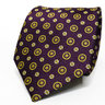 Purple Medallion Necktie | Men's Purple Floral Tie