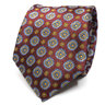 Red Medallion Necktie | Men's Suit Tie | Suit Accessories | Men's Fashion