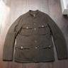 Gilded Age Loden Green Boiled Wool Field Jacket, Large