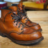 Red Wing x J Crew Moc Toe Beckman Boot, Chestnut Featherstone 9012, 9.5