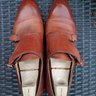 SAINT CRISPINS WHISKY BROWN DOUBLE MONKS. SIZE 7.5E UK. W/ TREES. LIKE NEW!