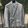 SOLD - Banana Republic Grey Glen Plaid Tailored Fit Linen Blazer 38s