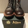 Alden Dark Brown Regina Grain Wing Tip Boot - Size 9 Barrie - SOLD!