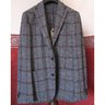 "SOLD - BNWT BOGLIOLI ""Dover"" Textured Grey Check Wool Jacket Sport Coat - Size IT 48 R"
