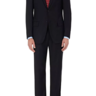 NWT ISAIA BASE S AQUASPIDER SOLID BLACK SUIT 40S HANDMADE IN ITALY