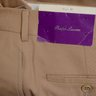 NWT Ralph Lauren Purple Label tan wool twill pleated slacks Italy size 32