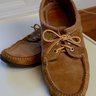 Quoddy three-eyelet suede camp bluchers 9.5D
