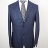 SOLD! NWT EIDOS NAPOLI (BY MICHELANGELO NAPOLI OF ISAIA) DARK BLUE MICRO HOUNDSTOOTH SUIT US38/EU48