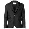 Ended | Song For The Mute Black Striped Wool Blazer One Button IT50