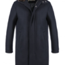 BNWT $1100 HERNO Navy Coat With Fur Collar, size M, 38/40 US
