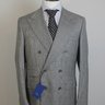 NWT Saint Andrews Santandrea Gray POW DB Super 150's Wool Suit US40/EU50