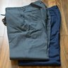 NWOT Custom Tom James Navy & Charcoal Gray Wool Trousers (2 pairs) 34x30