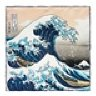"*SOLD* Kent Wang ""The Great Wave"" Silk Pocket Square (13x13)"