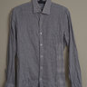 Epaulet Shadow Dot Cotton Shirt Size Small