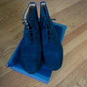 Alfred Sargent for JCrew Navy Suede Cap Toe boots  US 9 (Fits 9.5)- Brand New
