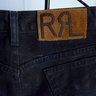 RRL Double RL black denim jeans by Ralph Lauren Size 33 Made in USA Mint!