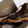 Barneys New York dark brown boots Lug soles 9.5 Italy