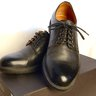 Barneys New York black leather bluchers Lug soles 9.5 Italy