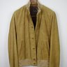 NWT STEWART Soft Calf Nubuck Leather Bomber Jacket in Mustard Size US Small