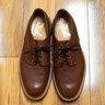 Sanders & Sanders for Mark McNairy Pebbled Brown Commando Blucher Made in England Sz. 11 US