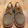 SANDERS & SANDERS FOR MARK MCNAIRY Light Brown Beige Taupe Suede MADE IN ENGLAND SZ. 11 US