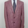 NEW ISAIA Red Houndstooth Cashmere Blend Flannel Blazer US44/EU54