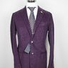 NWT LARDINI Handmade in Italy Plum Cotton Corduroy Suit US40/EU50