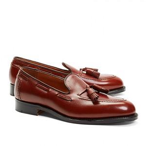 5093435c6fa Brooks Brothers Textured Tassel Loafers